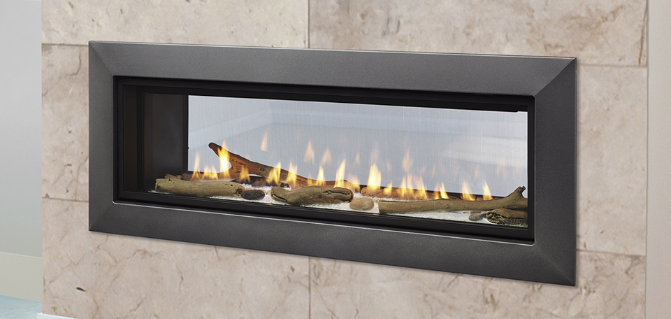 ECHELON II SEE THROUGH Direct Vent Gas Fireplace By Majestic