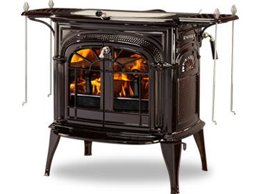 Intrepid ii catalytic wood burning stove by vermont for Most efficient small wood burning stove
